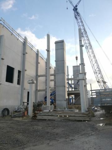 kokers lift en trap kantoorgebouw zijn gemonteerd